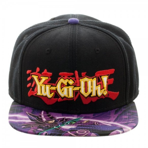 Yu-Gi-Oh Dark Magiican Snapback Hat Adult Logo e40e0b16e3cc